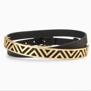 Black Ally Double Wrap Bracelet Stella & Dot NWOT!